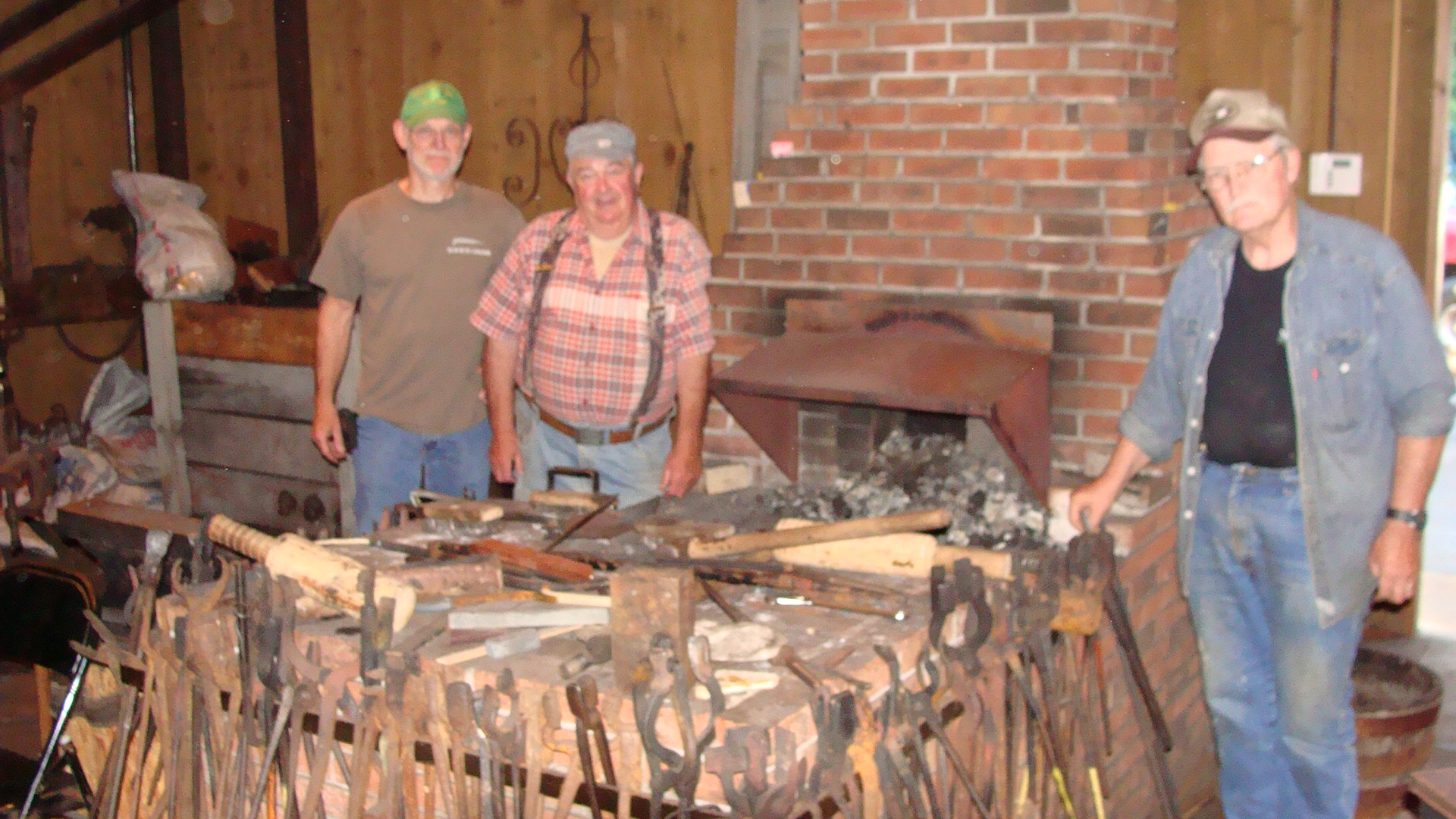 how to build a brick forge